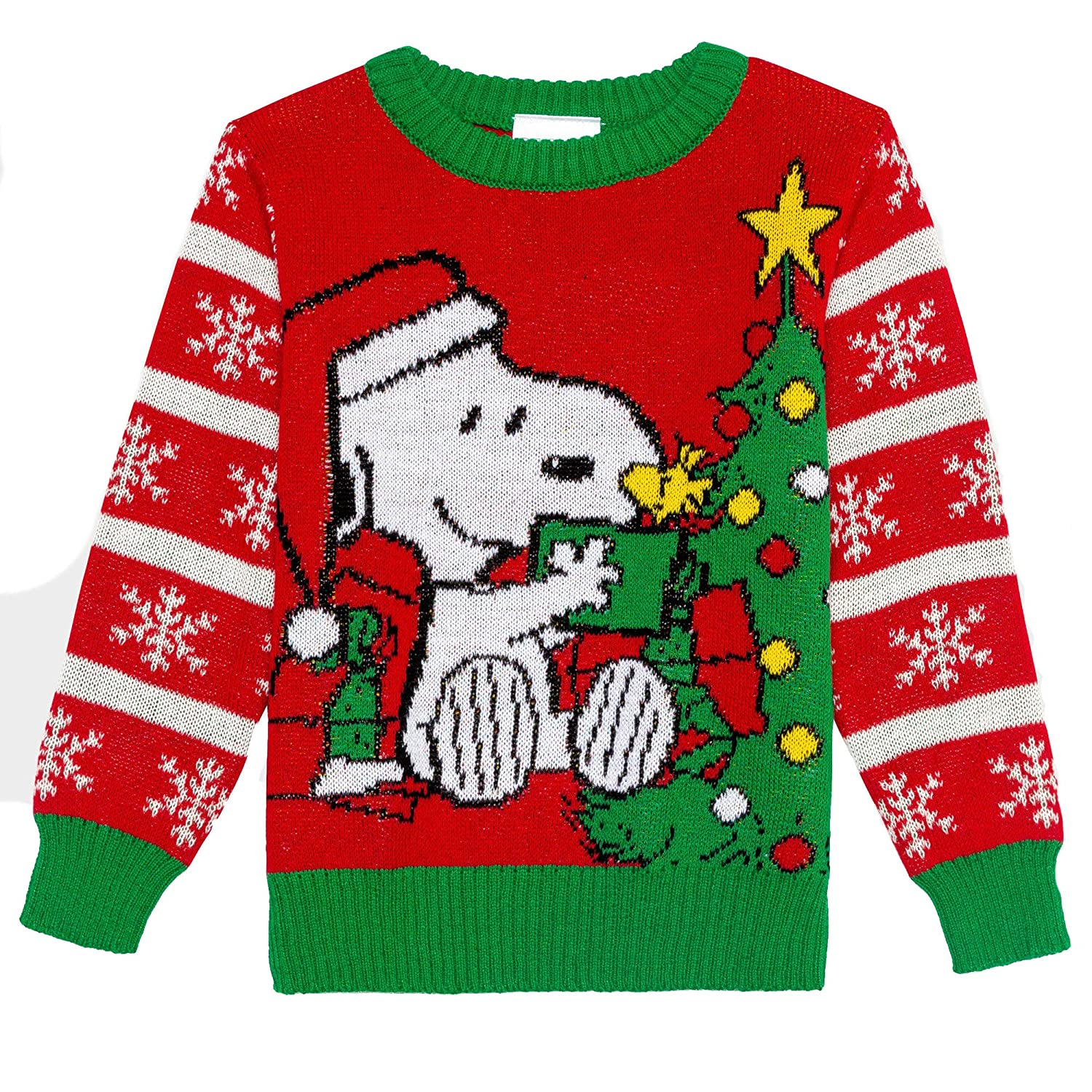 Peanuts Snoopy and Woodstock Baby Boys Christmas Sweater