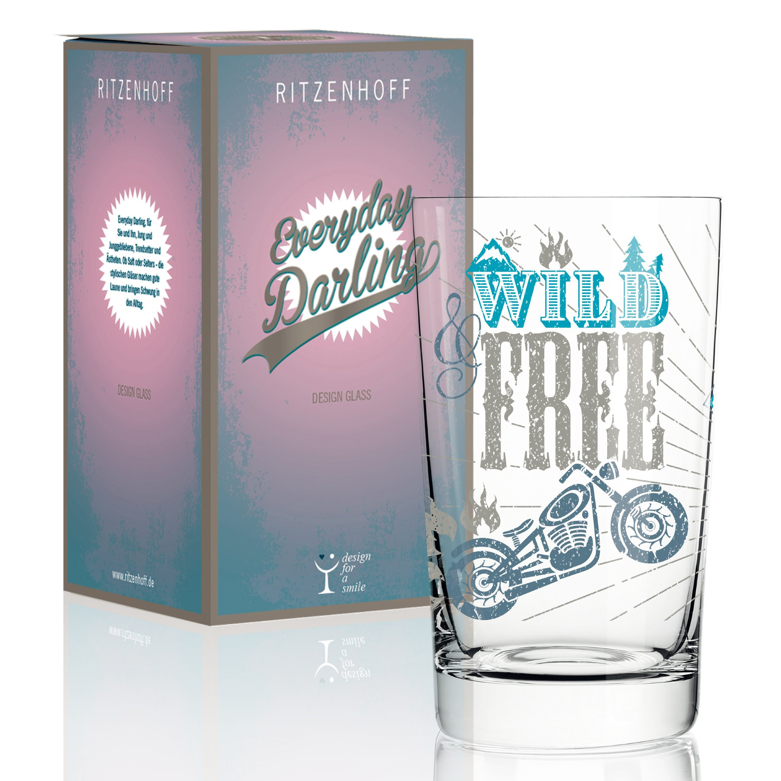 RITZENHOFF Everyday Darling Soft Drink Glass by Petra Mohr (Be Free) Made of Crystal Glass 300 ml with Trendy Designs