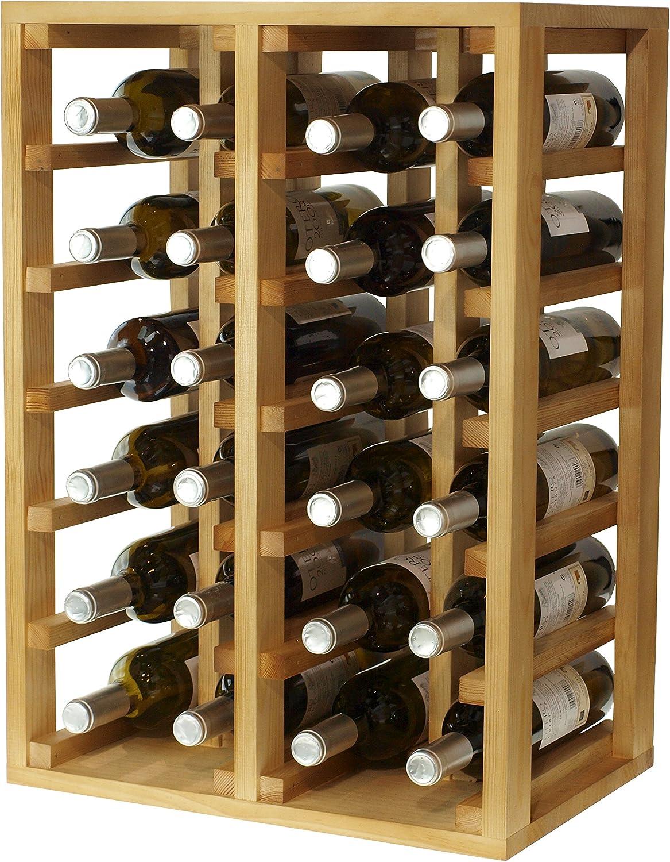 Rovere Chiaro 66/x 46/x 32/cm Legno Expovinalia portabottiglie per 24/Bottiglie