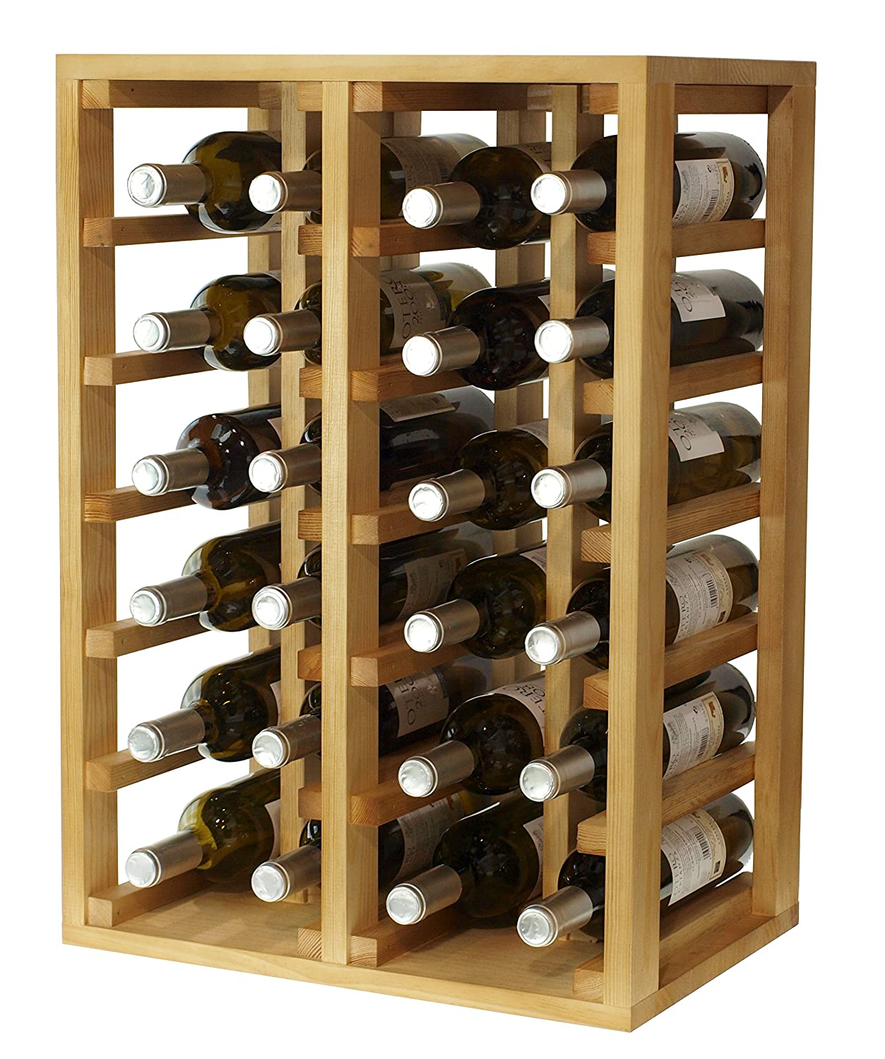 Expovinalia Wine Rack for 24 bottles, Wood, light oak, 66 x 46 x 32 cm ex2014