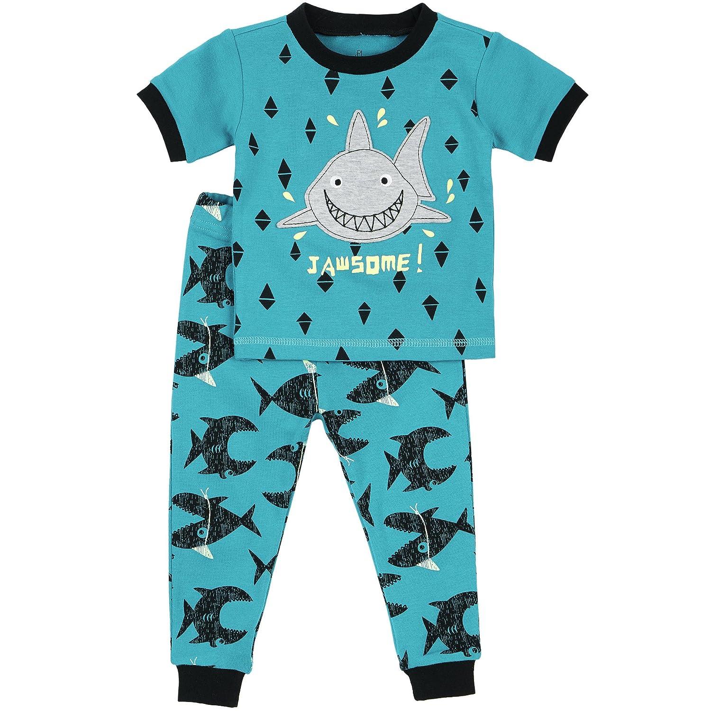 Petit Lem Little Boys' Sea Friends Shark Pajama