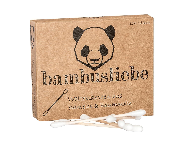 ✮ Bambusliebe ✮ bastoncino cotonato ♻ per bambini e adulti ♻ Bastoncini di bambù & cotone ♻ sostenibile ✅ vegano ✅ compostabile ✅