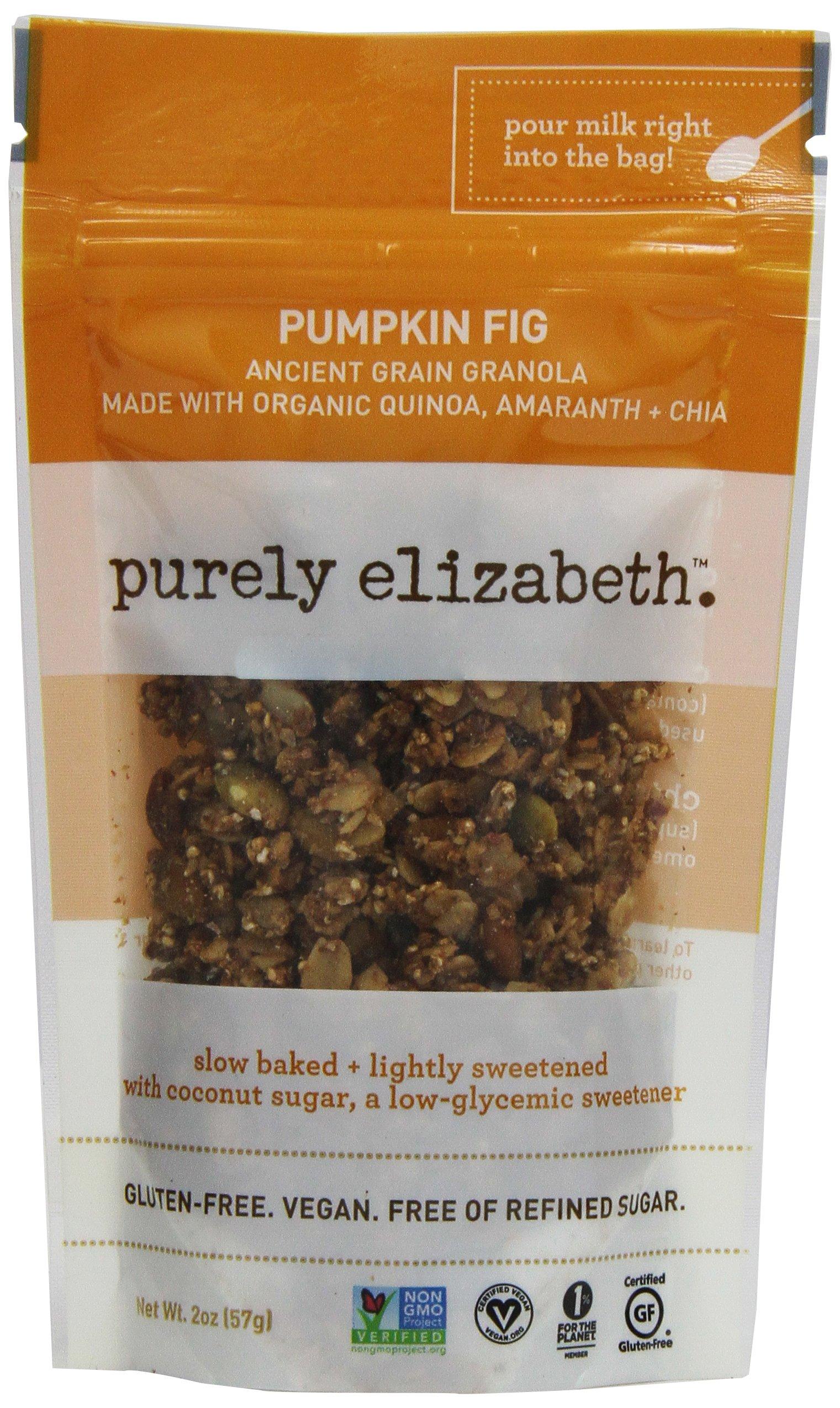 Purely Elizabeth Ancient Grain Granola Minis, Pumpkin Fig, 2 Ounce (pack Of 8)