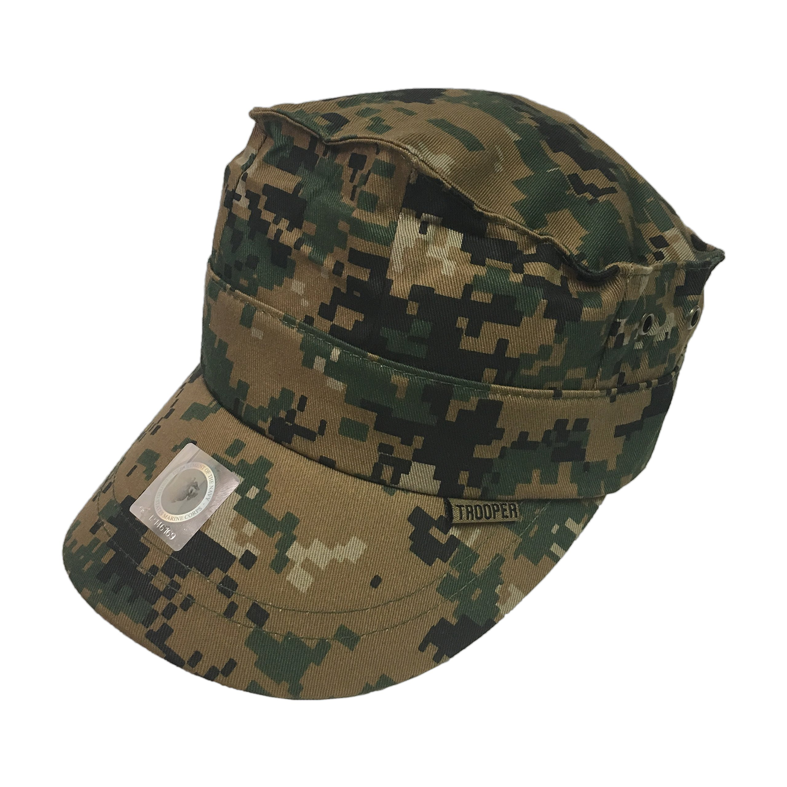 Trooper Clothing Brand Woodland Camo 8 Point Cover Youth Cap - 154-OS