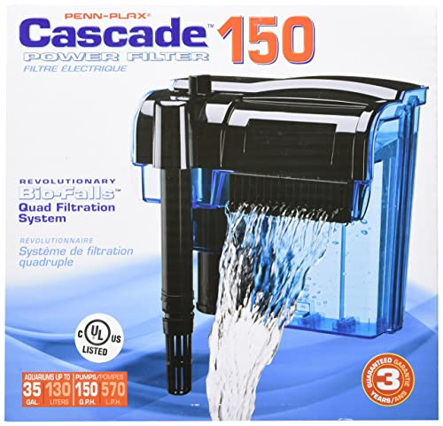 Penn-Plax-Cascade-Aquarium-Filter-with-Quad-Filtration-System