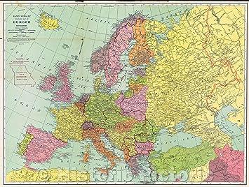Amazon.com: Historic Map - Sears Silvertone Radio European ...