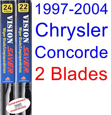 Amazon.com: 1997-2004 Chrysler Concorde Replacement Wiper Blade Set ...