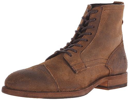 b38b61d940c75 Frye Men's Everett Lace Up Boot, Tan, 7 M US: Amazon.co.uk: Shoes & Bags