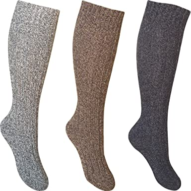 f74223a361d Image Unavailable. Image not available for. Colour  Men s Chunky Durable  Knit Wool Blend Winter Boot Socks ...