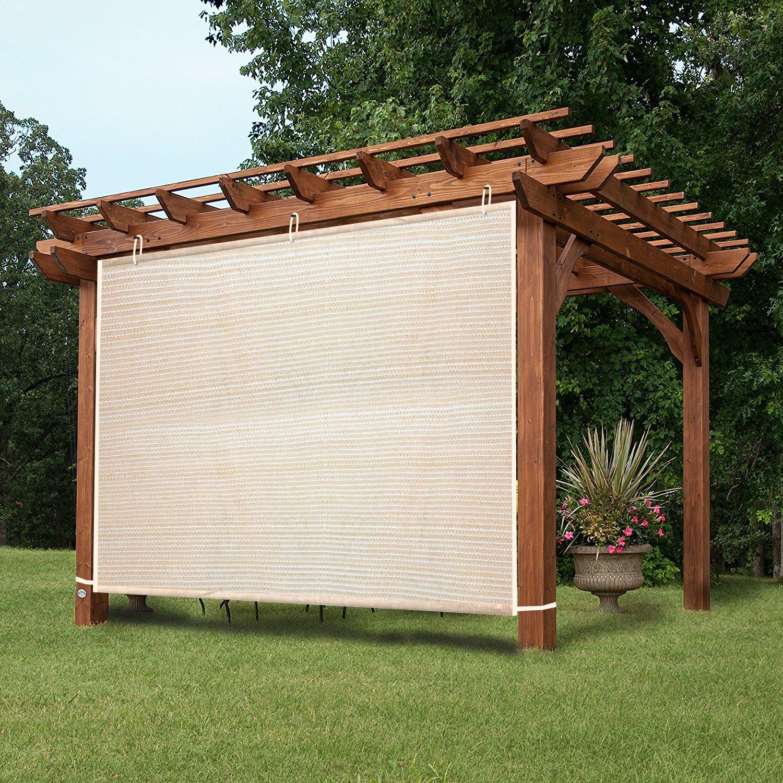Amazon.com : EZ2Hang Waterproof Vertical Pergola Shade 8x4ft Tan : Garden &  Outdoor - Amazon.com : EZ2Hang Waterproof Vertical Pergola Shade 8x4ft Tan