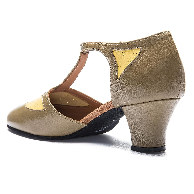 Rumpf Premium Line 9230 9230 9230 Damen Balboa Swing Standard Lindy Hop Schuhe Leder Absatz 5 cm grün c7dee6