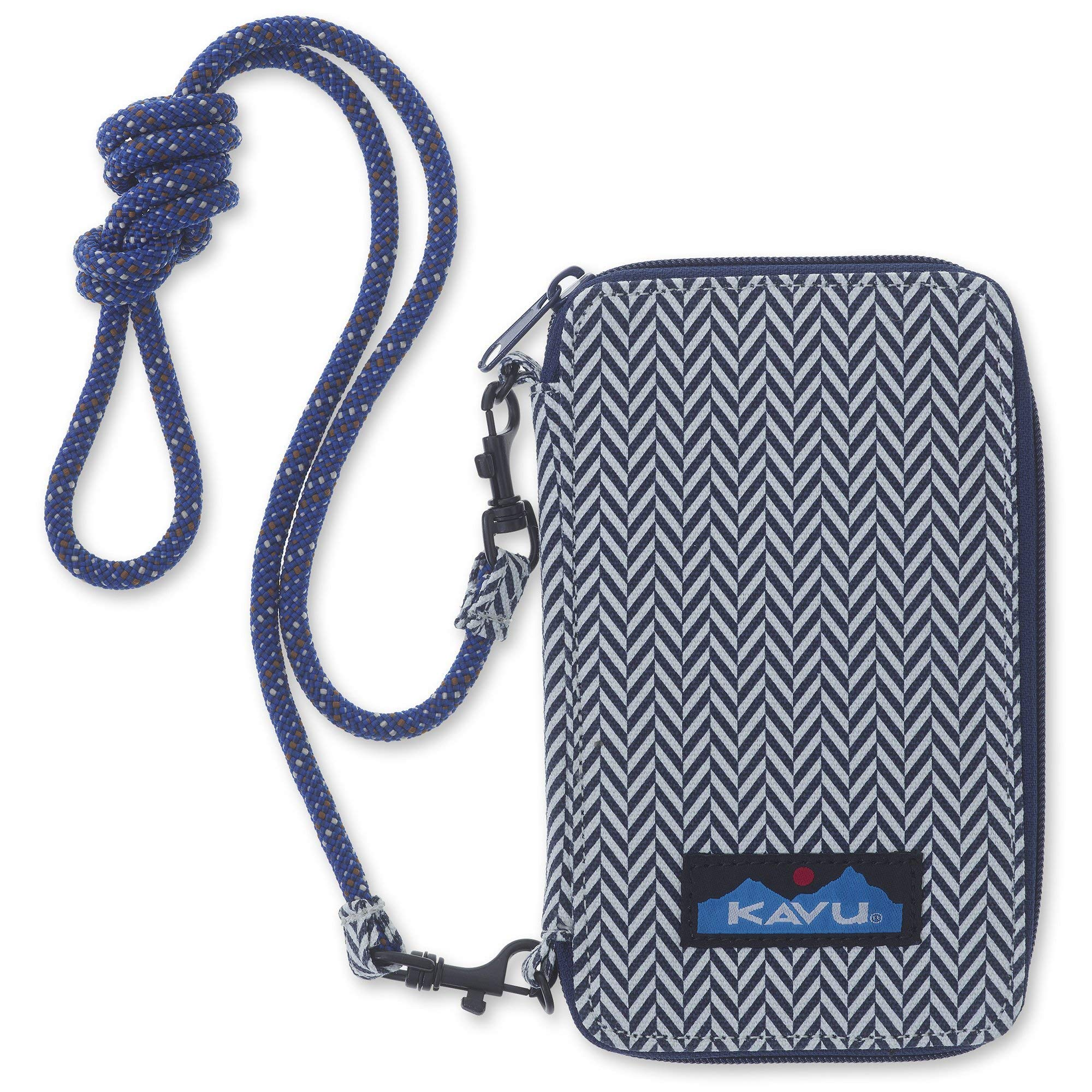 KAVU Go Time Bi-Fold Crossbody Wallet with Rope Strap - Herringbone by KAVU