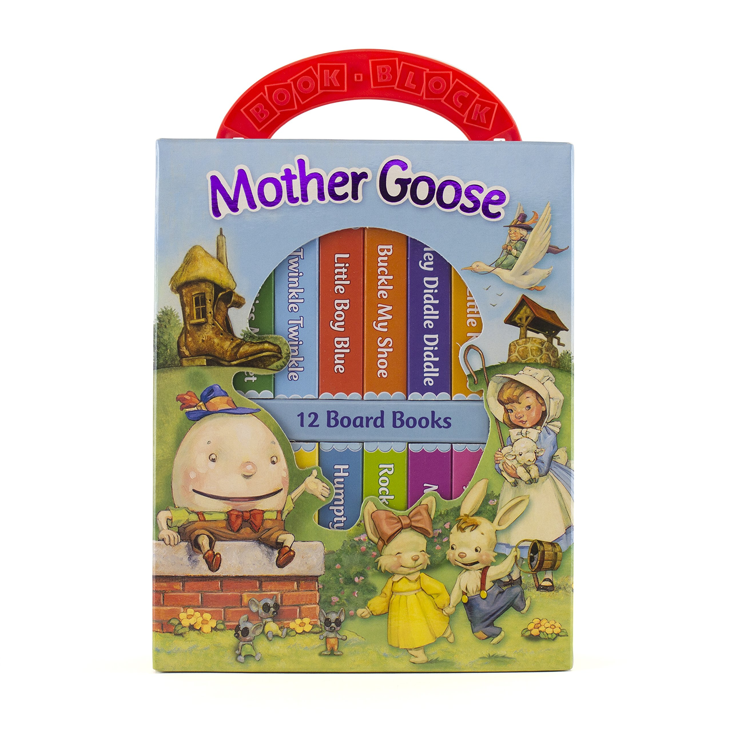 Mother Goose Deluxe My First Library 12 Board Book Set 9780785373957 Beauty Barn Mom Lit Up Water Editors Of Publications International Lt Books