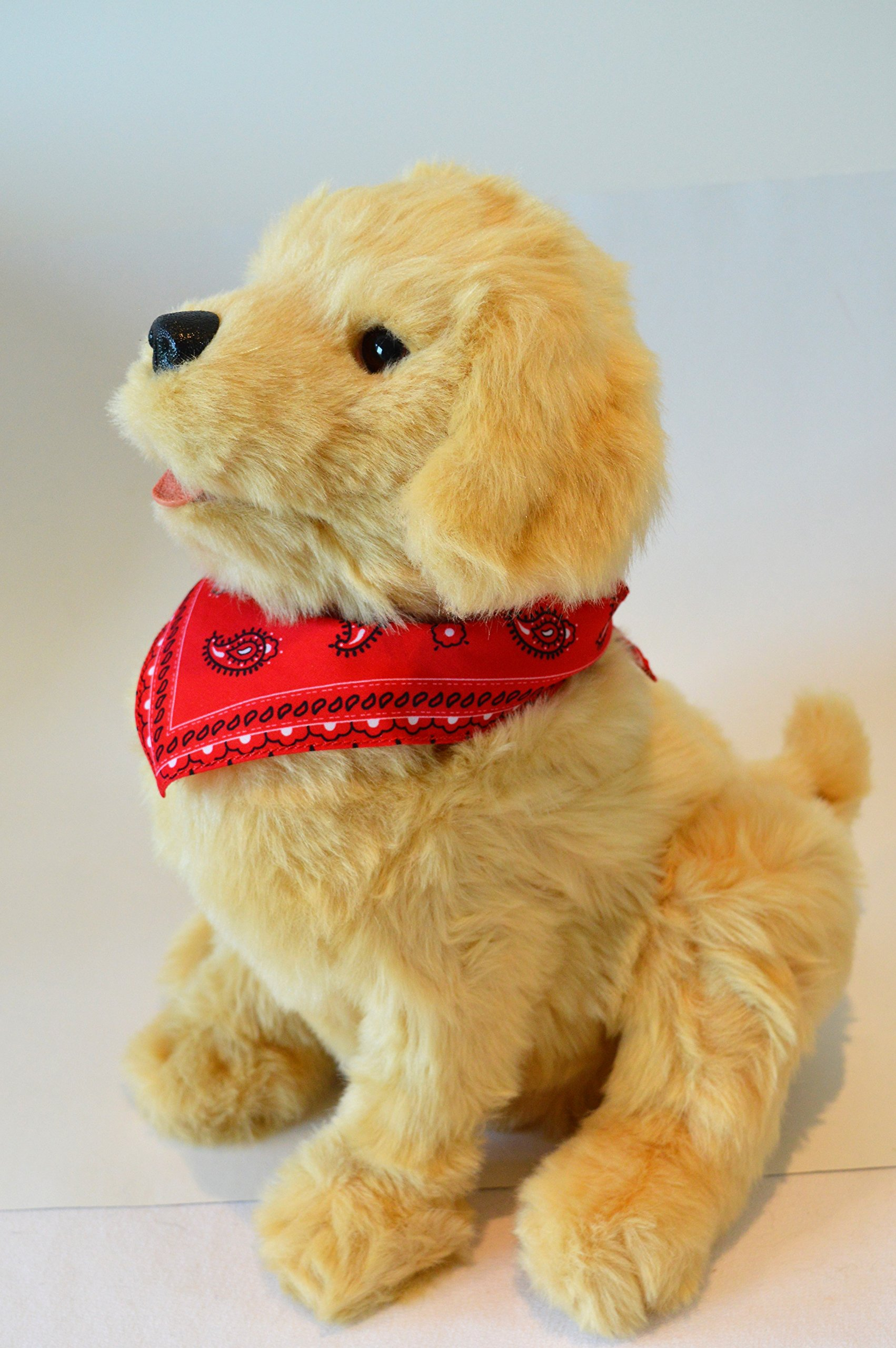 Joy For All Robotic Sitting Golden Dog - Stuffed Animal Therapy for People with Memory Loss from Aging and Caregivers