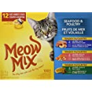 Meow Mix Seafood & Poultry Cat Food Variety 12 Pack