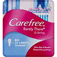 Carefree Pantyliner Barely There G-String Unscented, 24ct