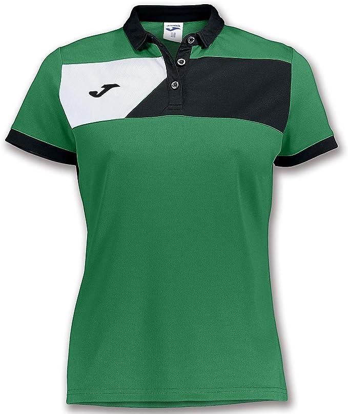 Joma Polo Crew II M/C Verde-Negro Mujer - Polo Deportivo, Mujer ...