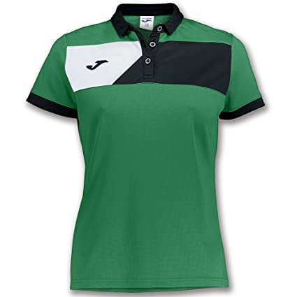 Joma Polo Crew II M/C Verde-Negro Mujer - Polo Deportivo, Mujer ...