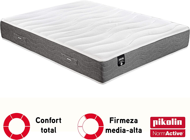 PIKOLIN Colchón de muelles ignífugo Normactive con viscoelastica, Confort Hotel Premium 90x190 Modelo Burk