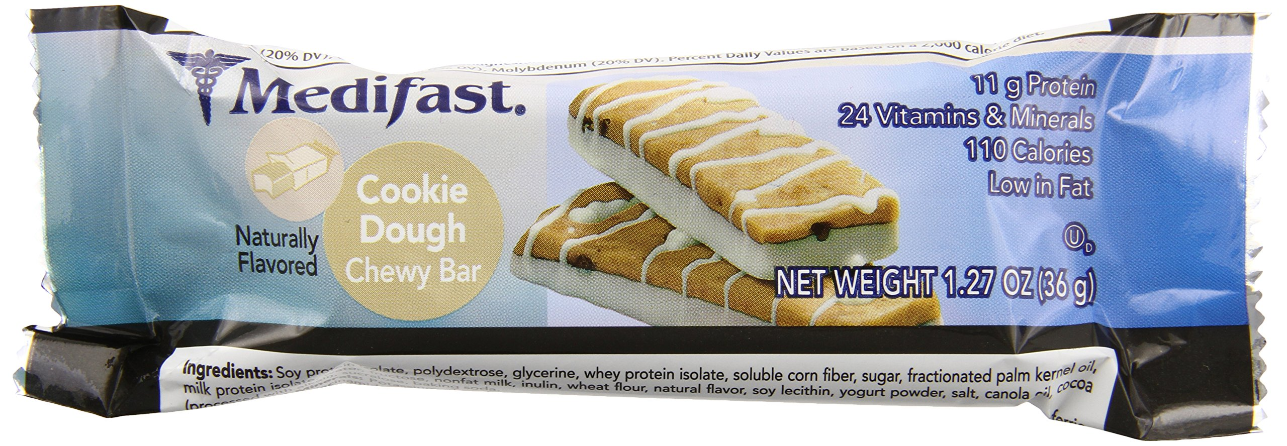 Medifast Cookie Dough Bar (1 Box/7 Servings) by Medifast
