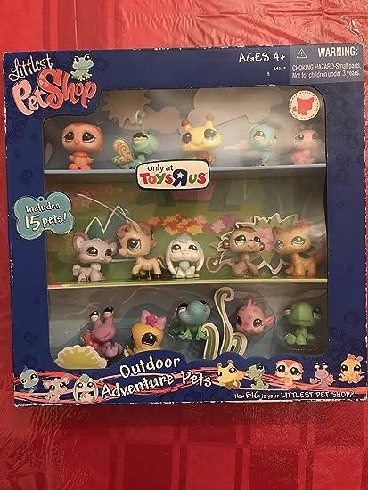 Ladybug Pony More! Littlest Pet Shop Exclusive Outdoor Adventure Collectors Set #1 of 15 Pets Includes Bumblebee Fish
