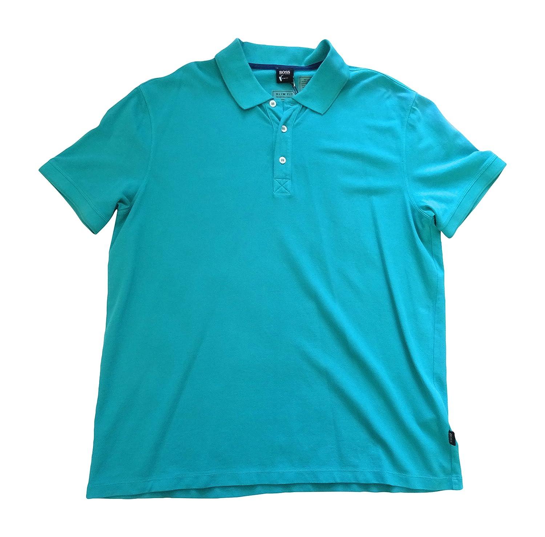 BOSS Hugo Hombre Polo Forli 50217362 Negro Etiqueta Slim Fit Verde ...