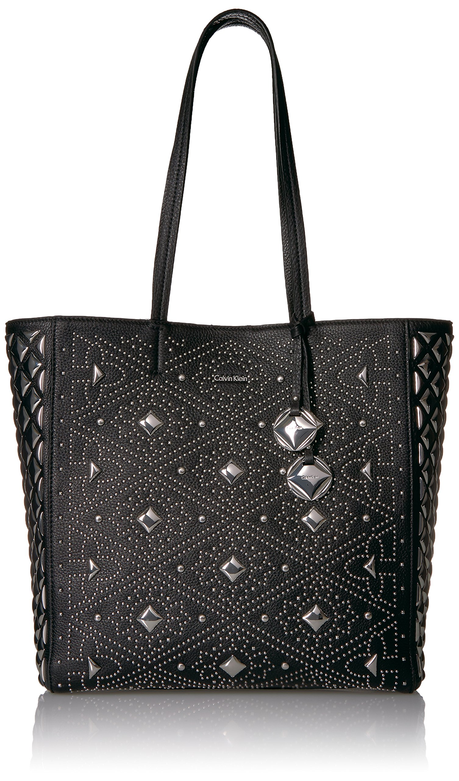 Calvin Klein Avery Pebble All-Over Pyramid Stud Embellished N/s Tote