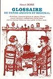 Glossaire du patois angevin et régional