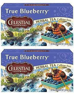 Celestial Seasonings Herb Tea True Blueberry 20 Bag (Pack of 2)