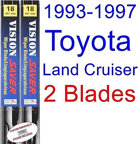 Amazon.com: 1993-1997 Toyota Land Cruiser Replacement Wiper Blade Set/Kit (Set of 2 Blades) (Saver Automotive Products-Vision Saver) (1994,1995,1996): ...