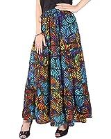 Cotton Breeze Women's Long Skirt (FP362_Multi-Coloured_Free Size)