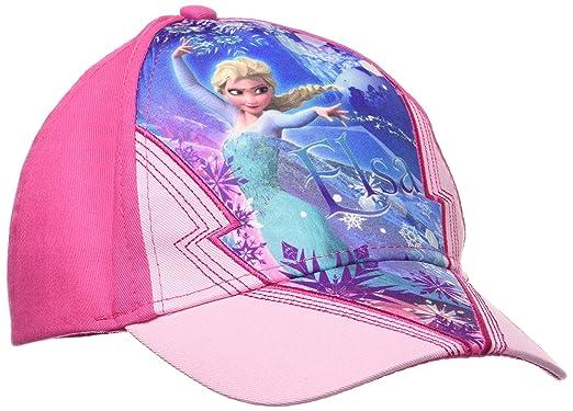 Disney Frozen, Gorra para Niñas, Rosa (Pink) XX-Large
