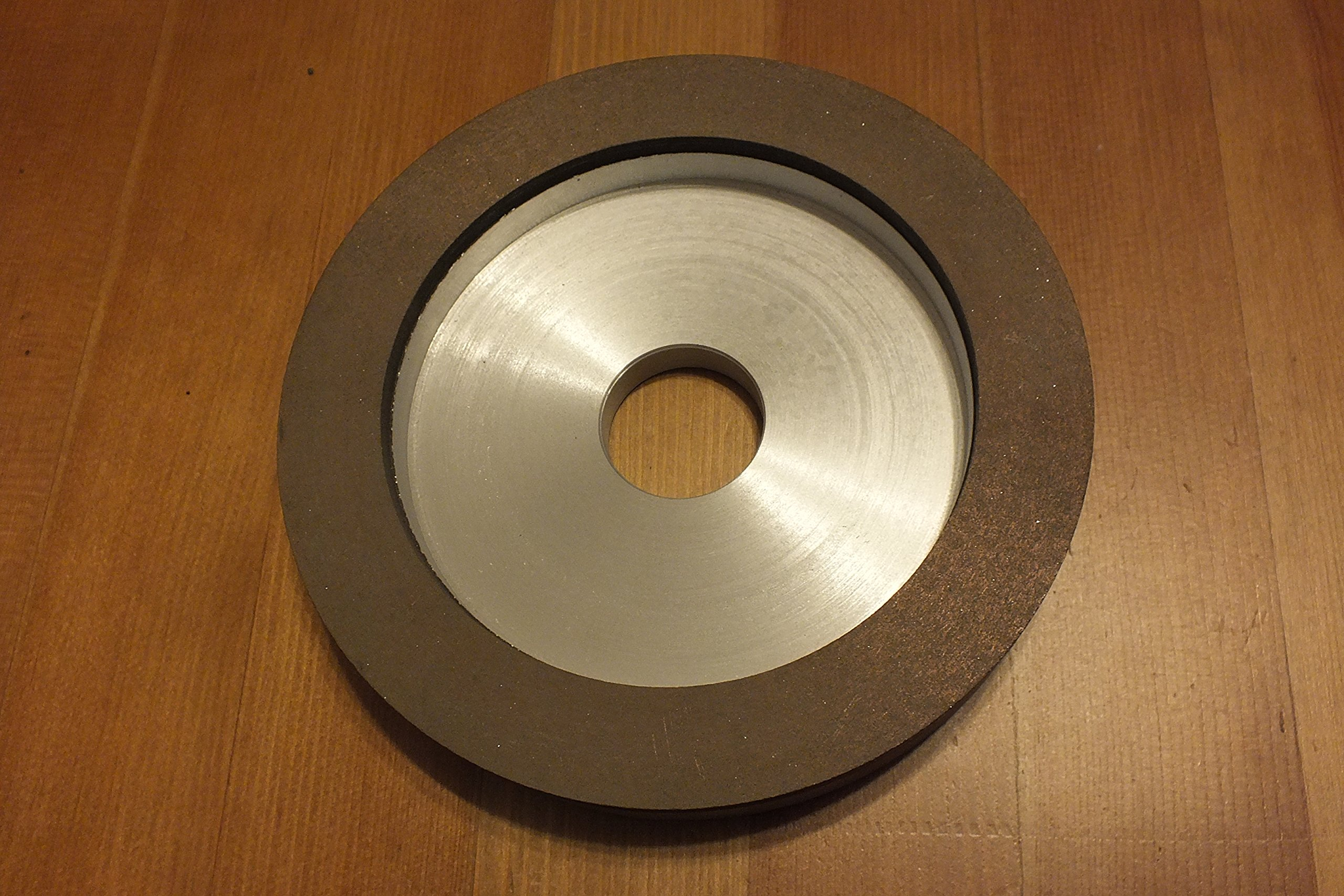 6 Inch Resin Bond Diamond Wheel 6'' 12v2d150 Diamond Layer 5 X 20mm by TechDiamondTools