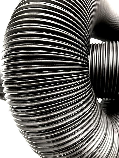 80 100 125 150 /Ø 80mm Aluminium, 80 mm L/änge 2,5m Intelmann Alu Flexrohr schwarz lackiert