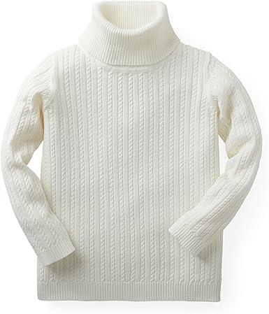 Hope /& Henry Girls Long Sleeve Cozy Turtleneck Sweater