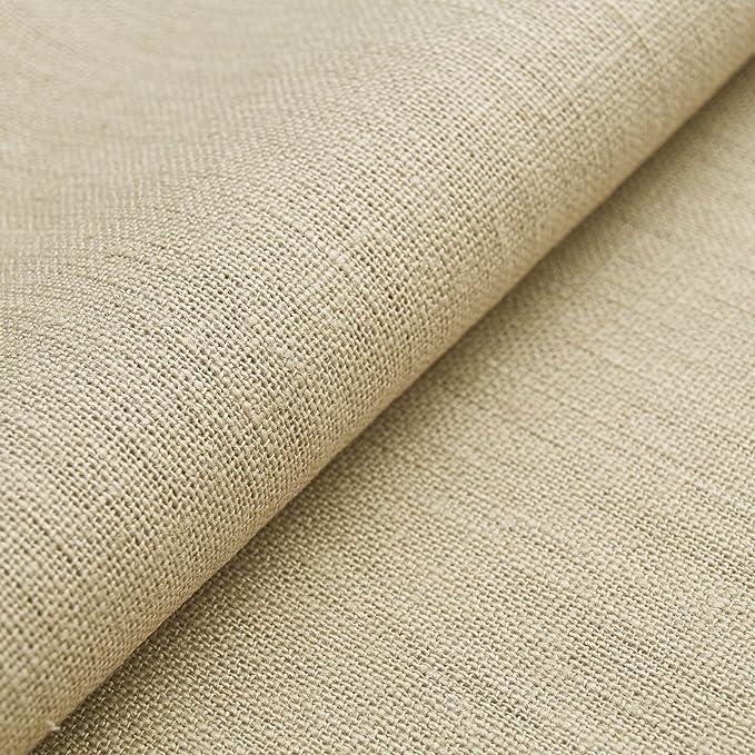 Auténtico Lino Ecológico BASIC - Tela de lino natural y pura - Por metro (Beige): Amazon.es: Hogar