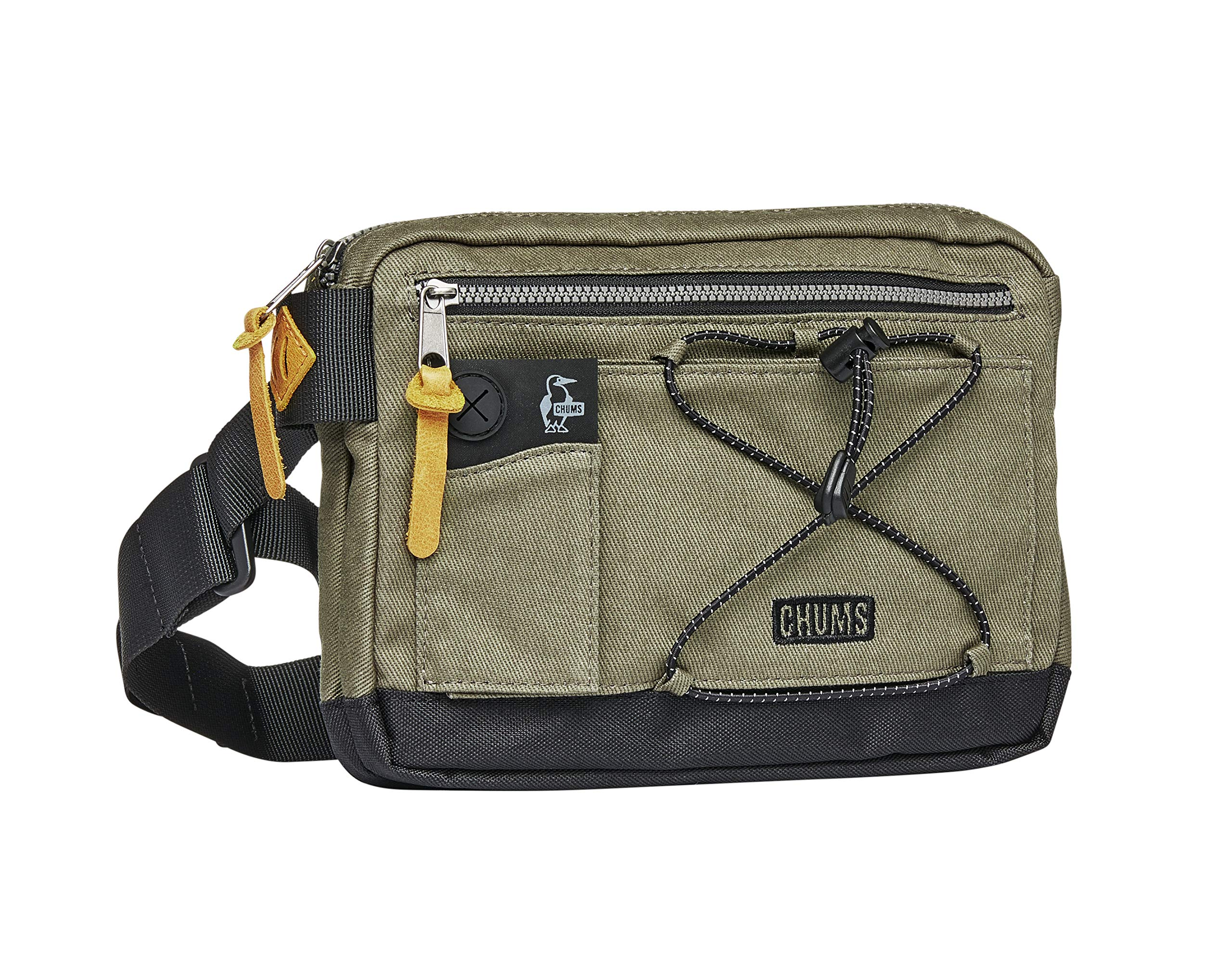 Chums Scrambler Reflective Waist Pack Shoulder Bag, Green/Black, One Size by Chums