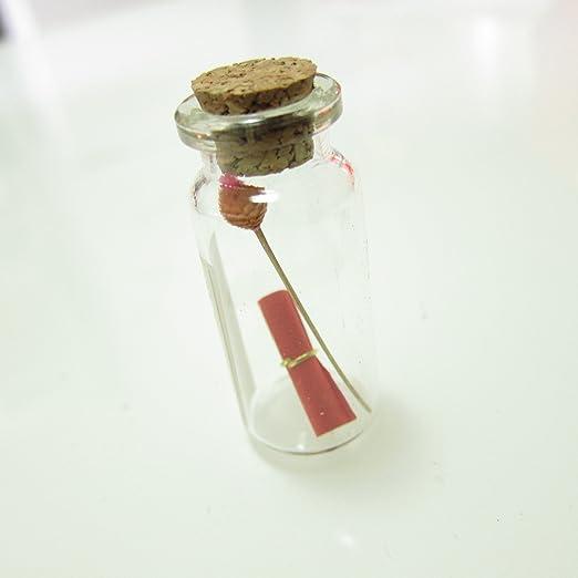 Mini cristal deseo botellas corcho Tops para Camping Project, arts & crafts, joyas, trenzados isla mensaje, boda, recuerdo de la fiesta de deseos, ...