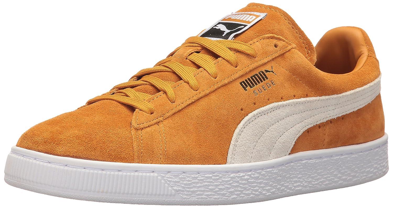 Puma Unisex-Erwachsene Suede Classic + 1 Sneaker, Black-Black, Schuhgrouml;szlig;e  42.5 EU|Beige (Inca Gold-puma White)