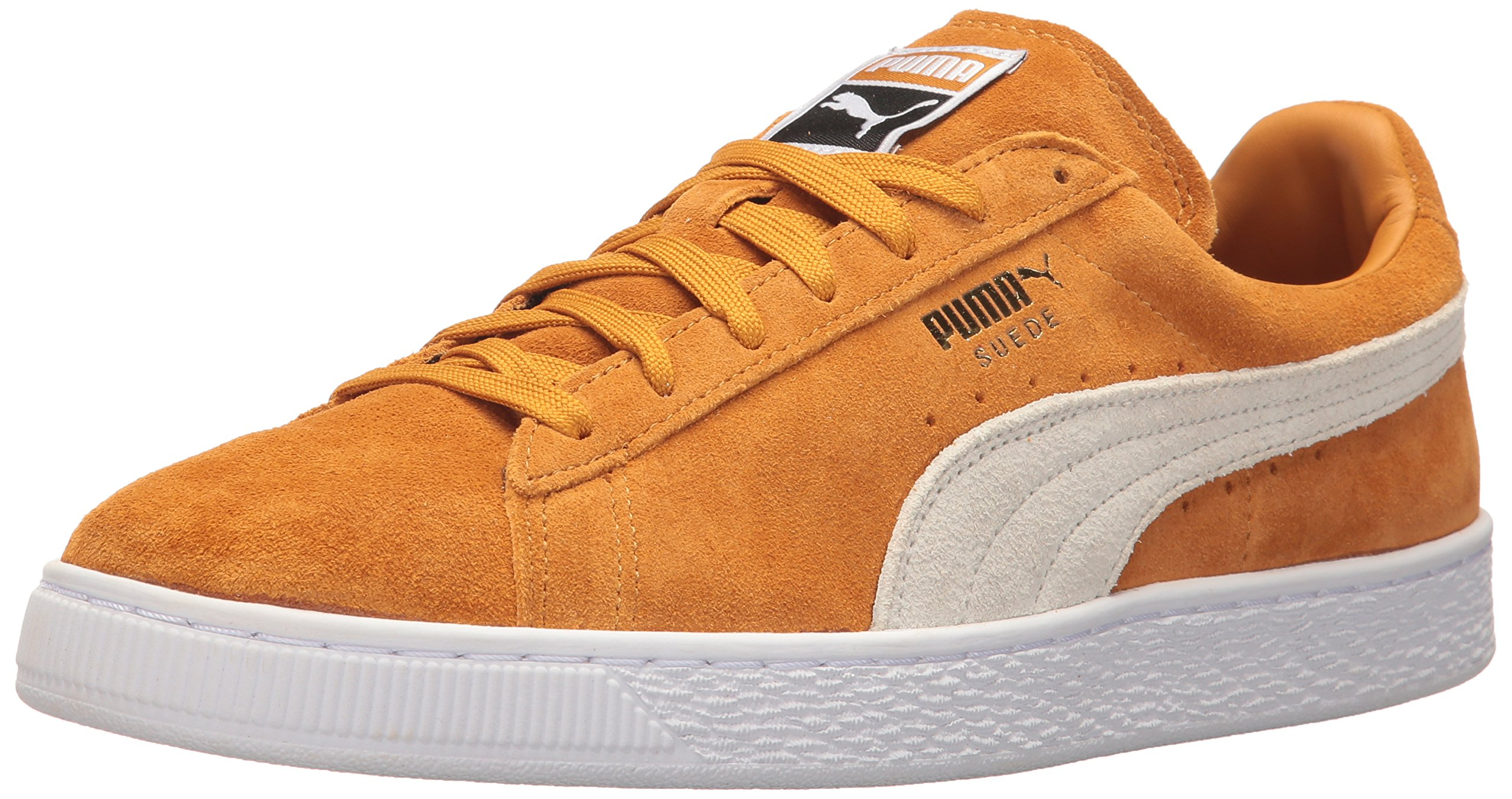 buy popular 2d2ec 9d52d PUMA Men's Suede Classic Fashion Sneaker, Inca Gold-puma White, 8 D(M) US