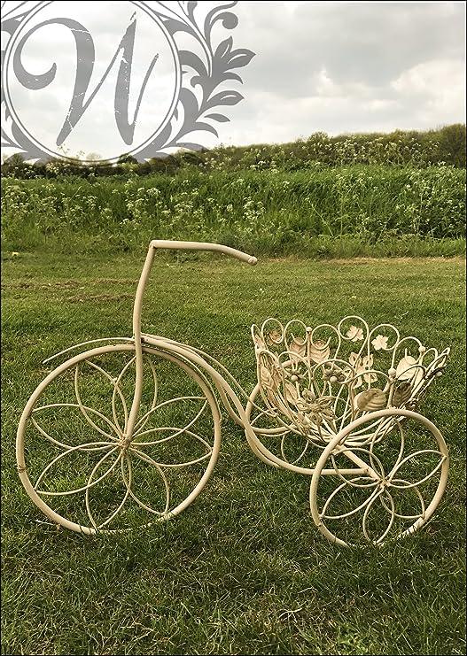Shabby Chic Metal bicicleta de jardín maceta: Amazon.es: Jardín