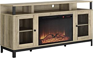 Ameriwood Home Marxen Fireplace TV Stand, Natural