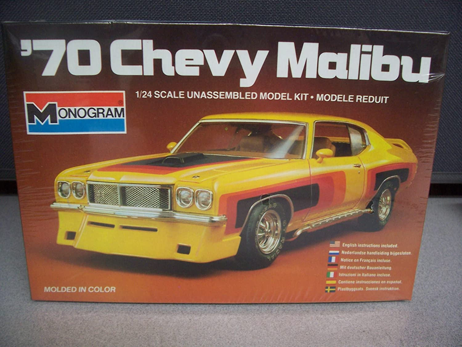 #2284 Monogram 70 Chevy Malibu 1/24 Plastic Model Kit,Needs Assembly