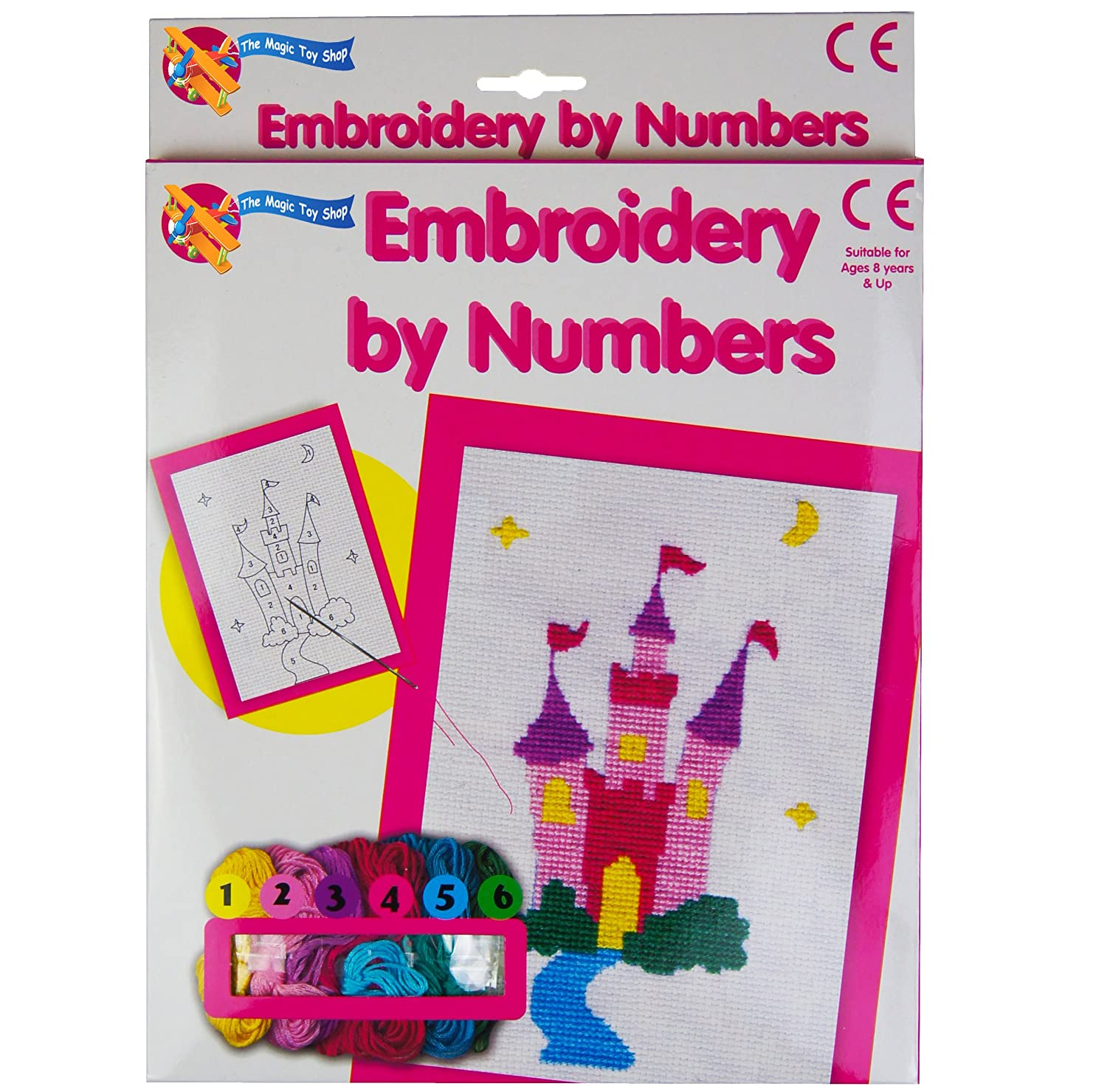 Embroidery By Numbers Cross Stitch Sewing Art Set Childrens Kids