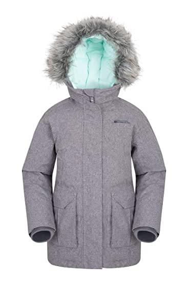 dd6ad2115cf58 Mountain Warehouse Freeze Over Kids Down Padded Jacket - Adjustable Childrens  Coat