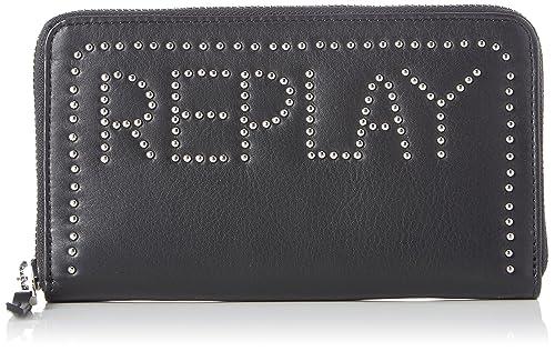 Fw5171.000.a3127, Womens Wallet, Black, 2.5x10.5x19 cm (B x H T) Replay