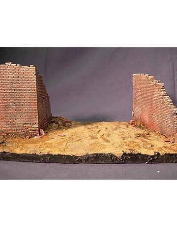 Echelle 1/35 Village murs bataille Endommagé mur Sections.