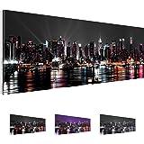 Bilder 100 x 40 cm - New York Bild - Vlies Leinwand - Kunstdrucke -Wandbild - XXL Format – mehrere Farben und Größen im Shop - Fertig Aufgespannt - NY – Skyline 601911a
