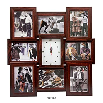 1e481858e75 Buy PERFECT COLLAGE FRAMES WITH CLOCK DESIGNED TO SHOWCASE YOUR FAVORITE  PHOTOS -5X7 Online at Low Prices in India - Amazon.in