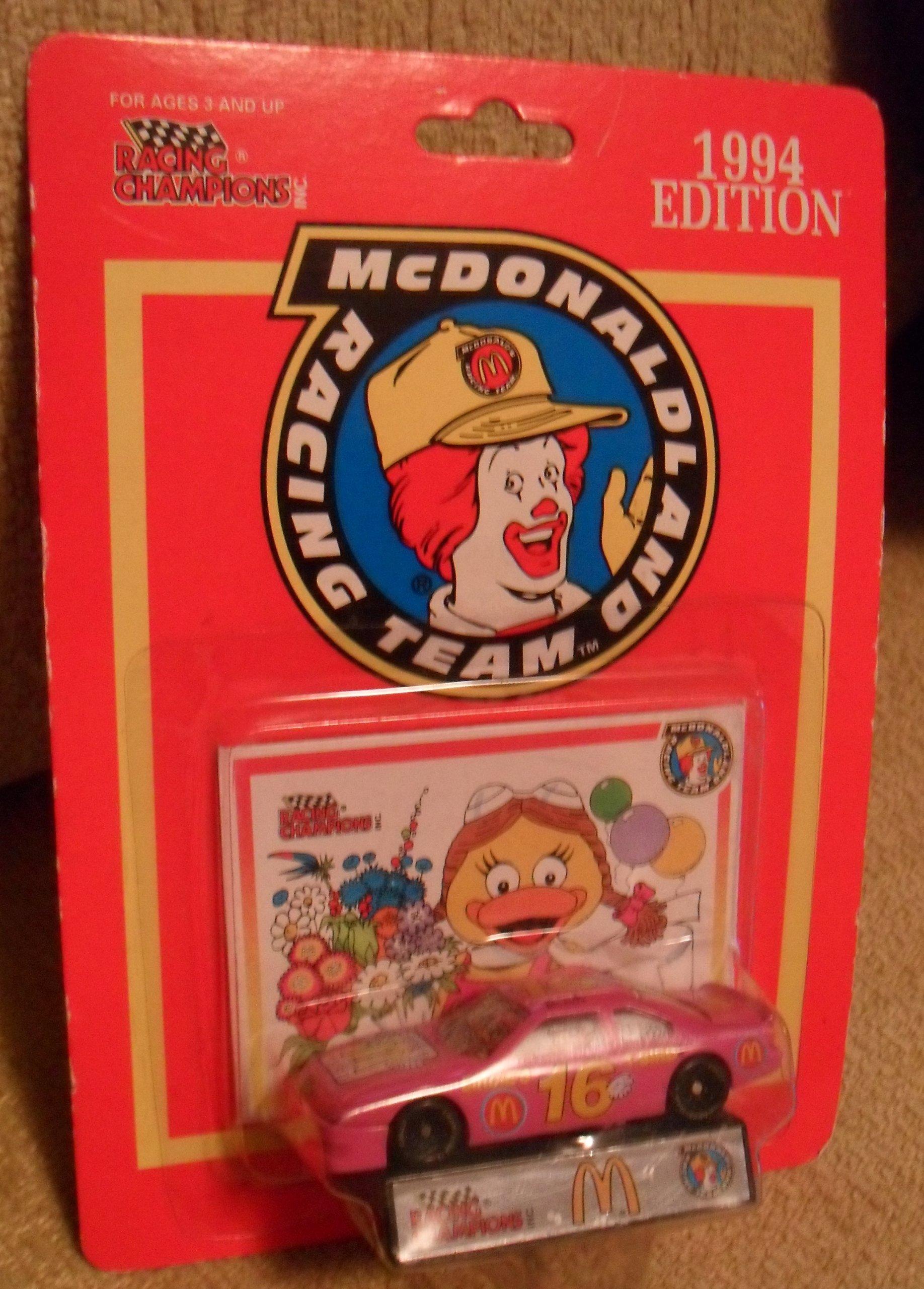 Racing Champions 1994 edition McDonald land racing team Pink car #16 birdie's t-bird RARE item